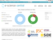 e-Science Central homepage