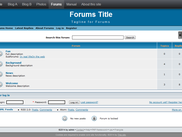 Forums feature