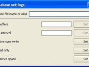 Database settings