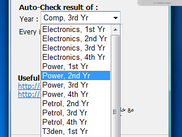 choose whatever dep. & year you want to auto-check for its result availability