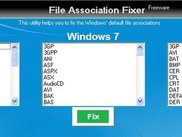 File Association Fixer Main WIndow