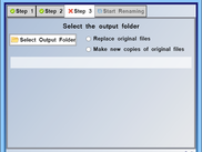 Step 3: Choose an output folder