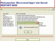 2. Save List of Discovered Applications