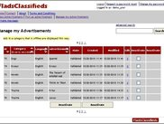 5 - Ad poster Area: Manage my Advertisements page