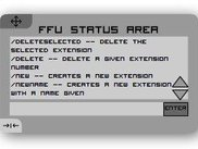 You can control the whole of FFU with the main terminal.
