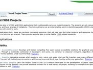 "The first step is to type a project name into the search field found at the top middle section of the screen. For this example we will type ""firebug"" into this field to find search results on the project firebug. After the project name is typed into this field ""Search"" is then clicked. The ""Advanced Search"" button can also be clicked bringing up additional search options. This is covered in a later screen."