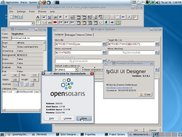 UIDesigner running under OpenSolaris editing an example app.