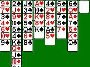 An example of a Freecell game in progress