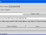 The main screen - checks the integrity of a file
