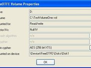 Volume properties dialog