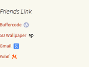 Friends Link Widget Display Page
