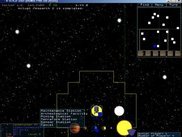Main screen with popup menu for planet commands