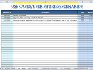 Use Cases, User Story, Scenario List