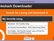 Funkshark, the music downloading program.