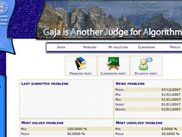 Gaja's main page for logged users