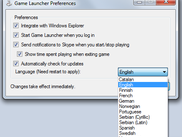 The Options dialog window