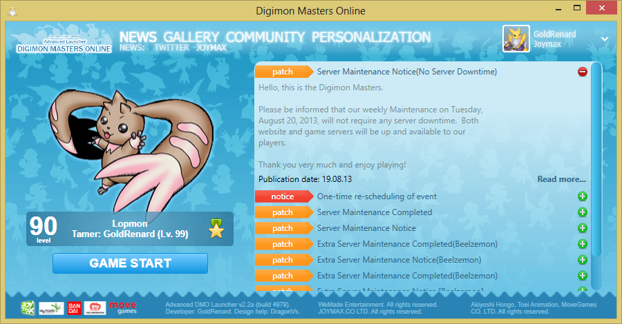 digimon master online game download