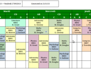 Week schedule view