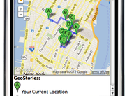 Mobile interface for user to interact with GeoStories