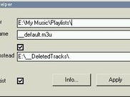 "Settings for ""Girder to Winamp - Playlist Helper"""