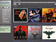 Metal theme showing album browsing with coverarts