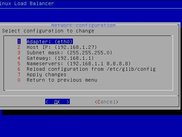 GLLB - Network configuration screen