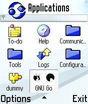 GNU Go Icon in S60 v2.0 Application Menu
