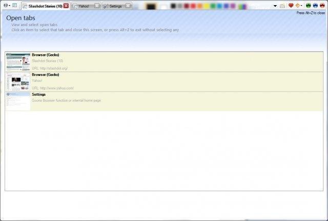 Goona Browser screenshot
