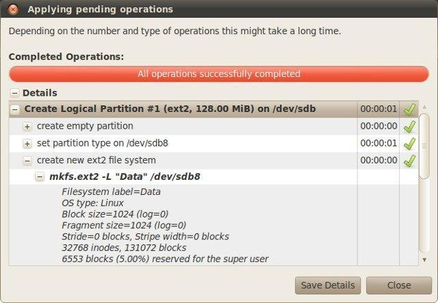 GParted Dialog Apply Operations