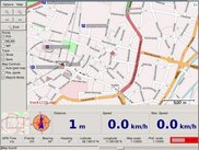 Gpsdrive using Mapnik. More screenshots at www.gpsdrive.de