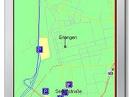 Map of Erlangen on the Sun emulator