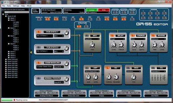 GR-55 GUI main screen