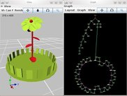 3D view of a plant and its 2D graph