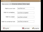 The preferences dialog.