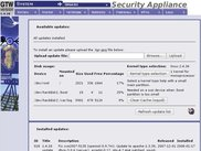 Updates section of GTCop Professional Security Appliance