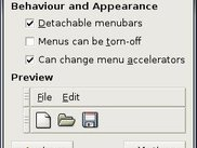 Extra preferences for menus