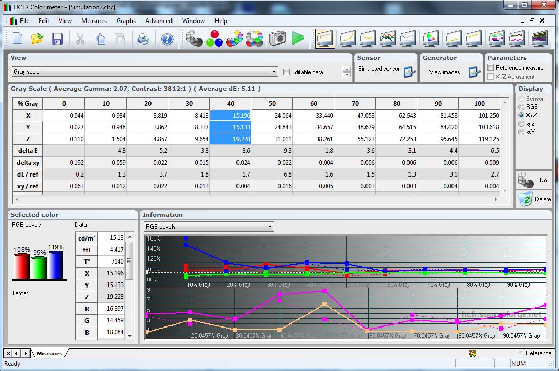 HCFR Colorimeter screenshot
