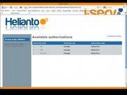 3. Helianto authorization page