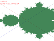 Mandelbrot calculated by Lua & HGL