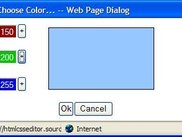 Color chooser dialog