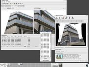 Hugin assembling several images into a wide-angle panorama