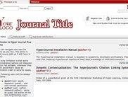 "HyperJournal Home Page - Theme ""Default"""