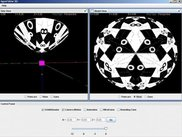 Main Screen depicting texture mapped (Escher IV )hyperboloid