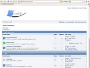 A view of IceBB's front page. (version 0.9.2.1)