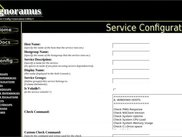 Version 0.2 - Services Configuration Page