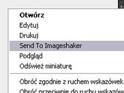 First step: Select option in your context menu.