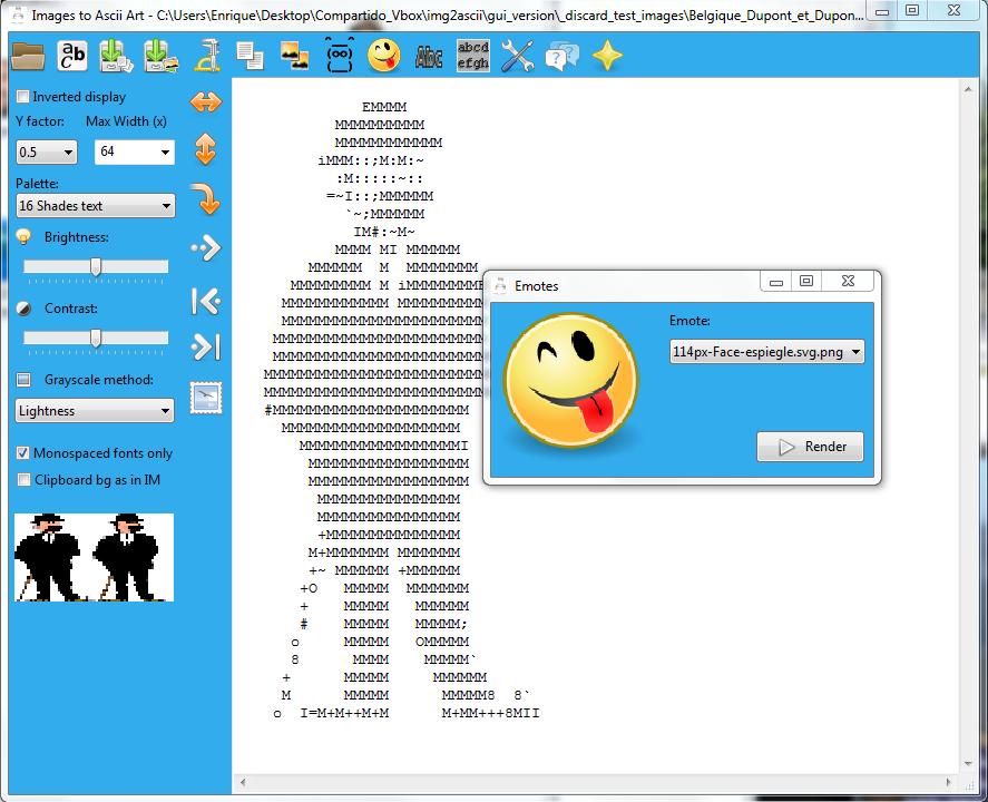 C write ascii text