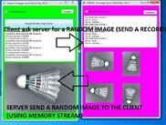 send record and get random image (badminton sample exten.)