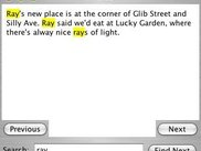 Finding notes using the search function under Mac OS X