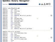 OpenDis Binary Navigator: Text browser